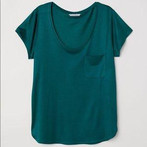 Plain Tee // emerald green